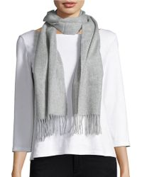 Lord & Taylor - Fringed Cashmere Scarf - Lyst