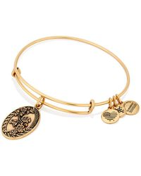 ALEX AND ANI - Granddaughter Flower Charm Expandable Wire Bangle Bracelet - Lyst