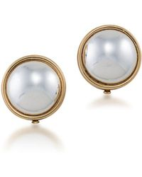 Lauren by Ralph Lauren - Simulated Pearl And 12k Goldplated Clip-on Earrings - Lyst