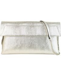 Christian Siriano - Karima Vegan Leather Snake-embossments Convertible Clutch - Lyst