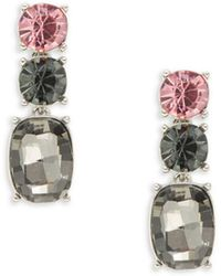 Lord & Taylor - Colorblocked Sparkle Drop Earrings - Lyst