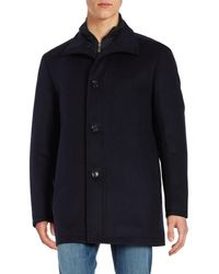 BOSS Green - Coxtan Wool-blend Zip-front Coat - Lyst