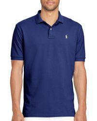 Lauren by Ralph Lauren - Classic-fit Weathered Mesh Polo - Lyst