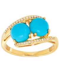 Lord & Taylor - Diamond, Turquoise & 14k Yellow-gold Ring - Lyst