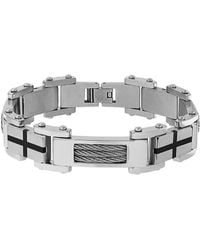 Lord & Taylor - Cubic Zirconia Cable Link Bracelet - Lyst