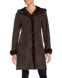 Gallery - Plus Faux Fur-trimmed Hooded Coat - Lyst