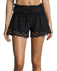 Amita Naithani - Lace-accented Cover-up Shorts - Lyst