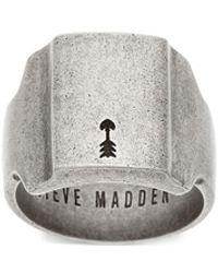 Steve Madden - Stainless Steel Square Ring - Lyst