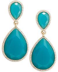 ABS By Allen Schwartz - Vibrant Vibes Double-drop Crystal Earrings - Lyst