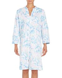 Miss Elaine - Floral-print Zip-up Caftan - Lyst
