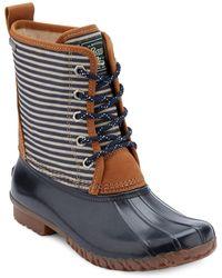 G.H. Bass & Co. - Daisy Striped Duck Boots - Lyst