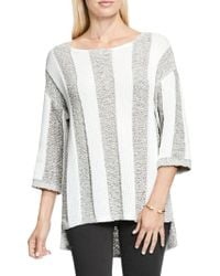 Two By Vince Camuto - Mixed Knit Stripe Jumper - Lyst