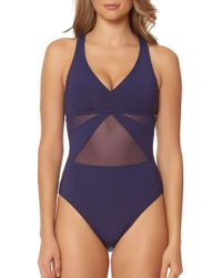 Bleu Rod Beattie - Cruise Control One-piece Mesh Mio Swimsuit - Lyst