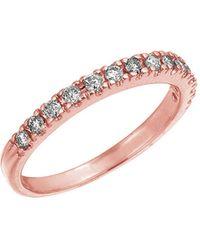 Morris & David - Diamond Ring In 14 Kt. Rose Gold - Lyst