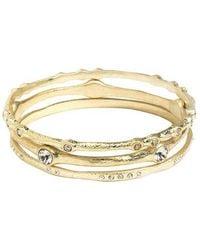 ABS By Allen Schwartz - Rhinestone-accented Bracelet Set - Lyst
