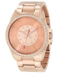 Juicy Couture - Ladies Rose Gold And Swarovski Crystal Watch - Lyst