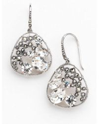 Lord & Taylor - Sterling Silver And Marcasite Earrings - Lyst