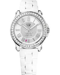 Juicy Couture - Ladies Pedigree Silvertone And Crystal Watch - Lyst