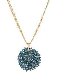 Kenneth Cole - Gemstone Pendant Drop Necklace - Lyst
