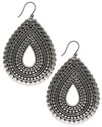 Lucky Brand - Silver-tone Teardrop Earrings - Lyst