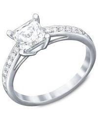 Swarovski - Attract Silvertone Crystal Ring - Lyst
