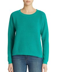 Lord + Taylor Combed Cotton Pullover - Blue