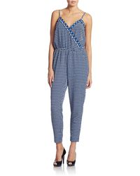 Laundry by Shelli Segal - Printed Crop Jumpsuit - Lyst