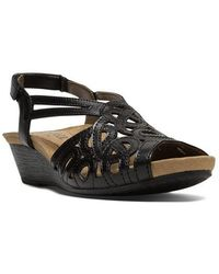 Cobb Hill - Helen Leather Wedge Sandals - Lyst