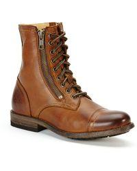 Frye - Tyler Double Zip Leather Boots - Lyst