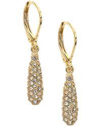 Anne Klein - Glitz Oval Drop Earrings - Lyst