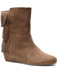Isola - Tricia Suede Wedge Boots - Lyst