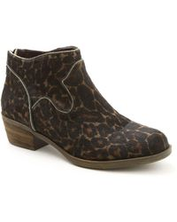 Kensie - Gabor Leopard-print Calf Hair Ankle Boots - Lyst