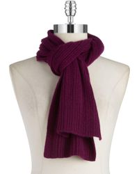 Lord & Taylor - Knit Cashmere Scarf - Lyst