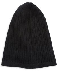 Lord & Taylor - Knit Cashmere Slouchy Hat - Lyst