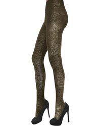 Zac Zac Posen - Metallic Lurex Fashion Tights - Lyst