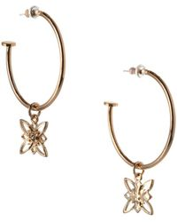 BCBGeneration - Floral Hoop Earrings - Lyst