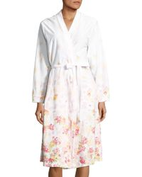 Carole Hochman - Floral Wrap Front Cotton Robe - Lyst