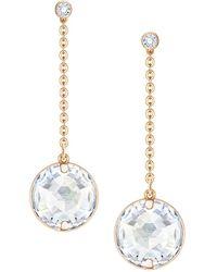 Swarovski - Globe Linear Drop Earrings - Lyst