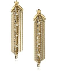 Danielle Nicole - Blossom Faux-pearl And Semi-precious Stone Fringe Earrings - Lyst