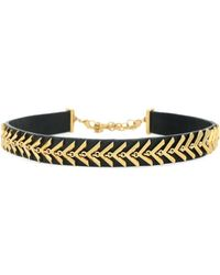 Botkier - Choked Up Leather Chevron Choker Necklace - Lyst