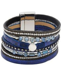 Panacea - Multi-row Beaded Magnetic Snap Bracelet - Lyst