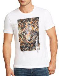 William Rast - Lion Cotton T-shirt - Lyst