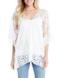Karen Kane - Embroidered Lace Poncho - Lyst