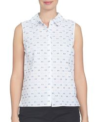 Cece by Cynthia Steffe - Spring Meadow Printed Cotton Top - Lyst