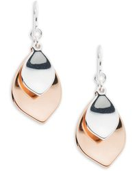 Lauren by Ralph Lauren - Stereo Hearts Two-tone Earrings - Lyst