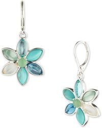 Anne Klein - Floral Drop Earrings - Lyst