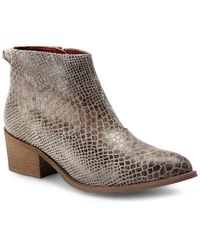 Liebeskind - Reptile-inspired Leather Ankle Boots - Lyst