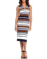 Maggy London - Striped Sleeveless Dress - Lyst