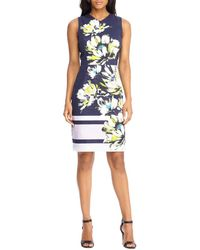 Maggy London - Floral-print V-neck Dress - Lyst