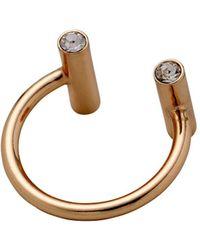 Pilgrim - Czech Crystal Studded Ring - Lyst